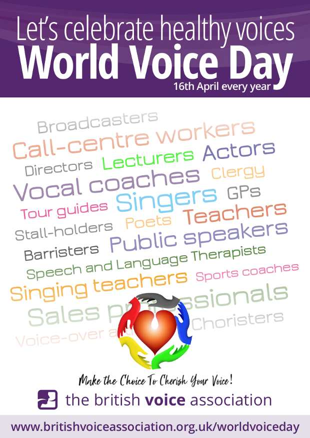 British Voice Association - World Voice Day 2020 poster