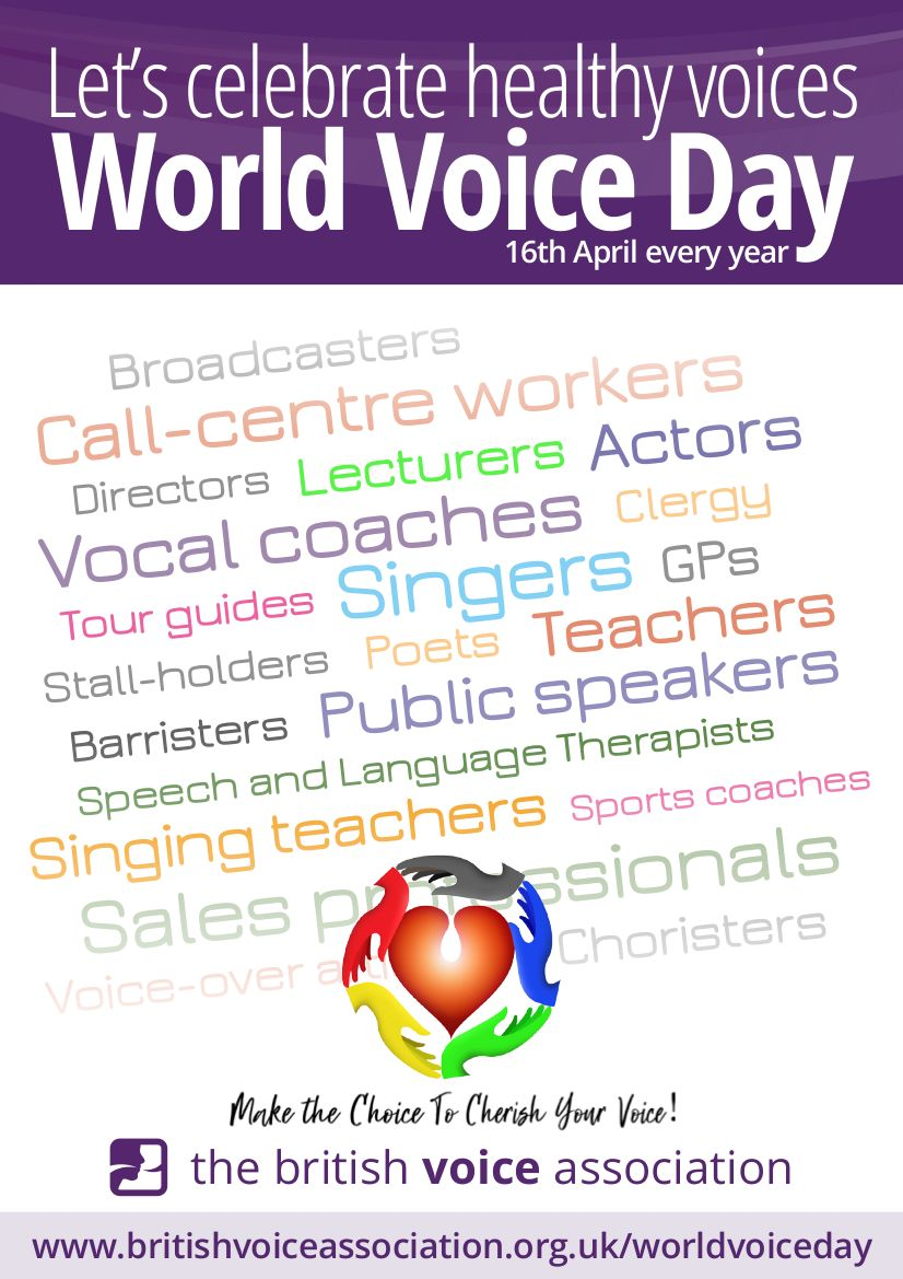 British Voice Association - World Voice Day 2021 poster