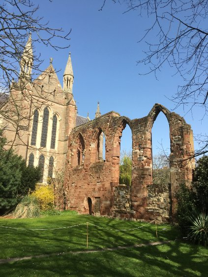 The remains of Guesten Hall, Worcester Cathedral